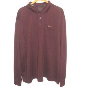 Greg Norman Size 2XLT Polo Shirt Burgundy Play Dry